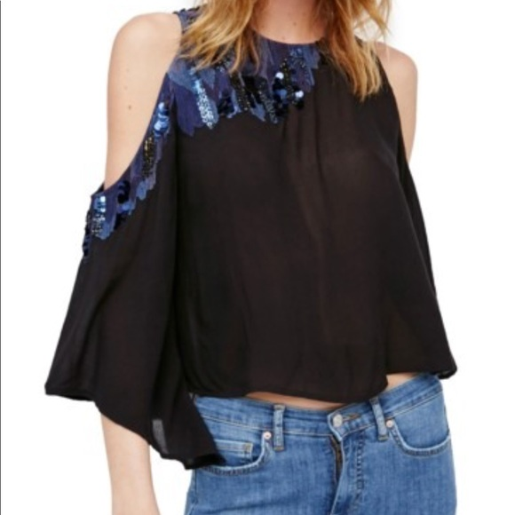 [Free People] NWT All About You Embellished Top